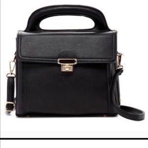 Pink Haley Boxy satchel in black